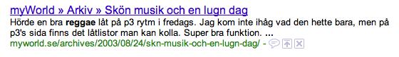 Sökning på Google